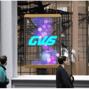 glass window led display