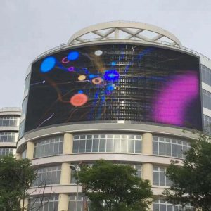 transparent building led display