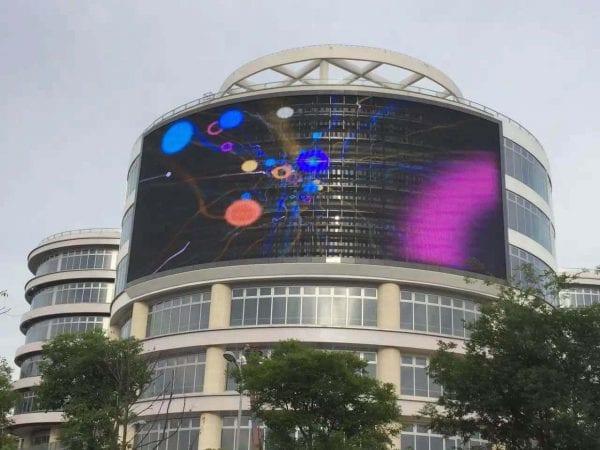 transparent building led display