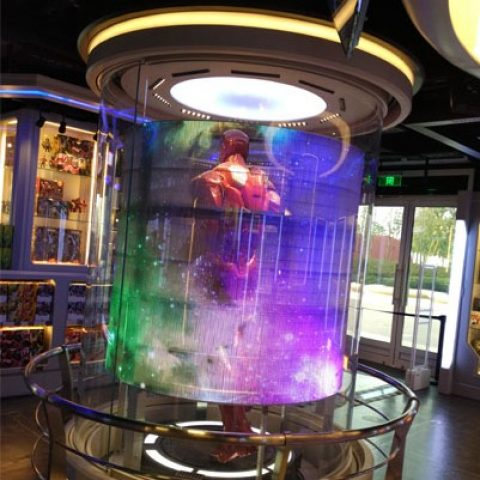 Transparent LED display disney iron man