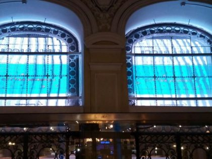 Combining authentic façades windows with Transparant LED screens