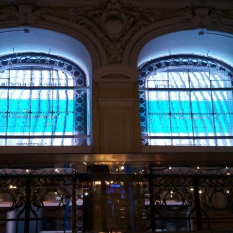 Écran LED transparent pour le zoom de la façade