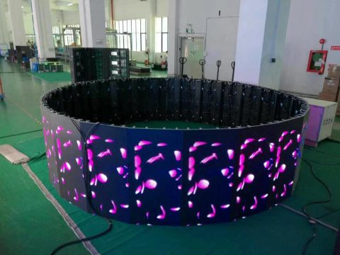 Innovative circular LED screen panel