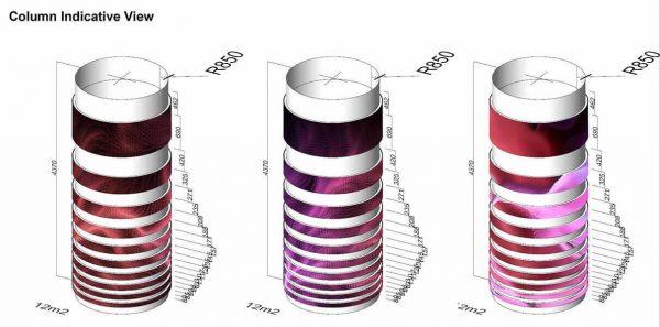 LED column screen 3d design