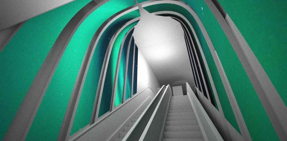 Customized led screens-escalator path