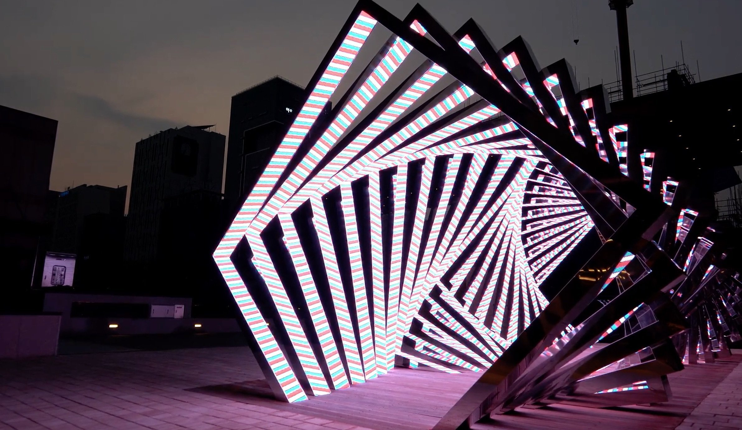 Parametrical Tunnel Outdoor Led Custom Design For Custom Project