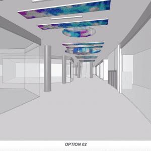 Ceiling led screen design 3d