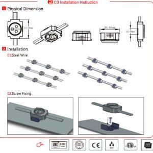 Led flexible mesh C3 installation instruction