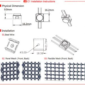 Installation plan led flexible mesh