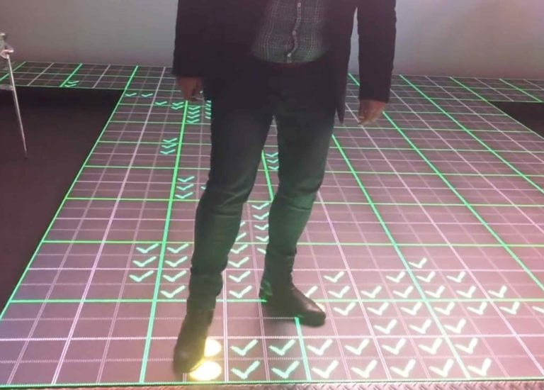 Interactive LED floor for game interactive