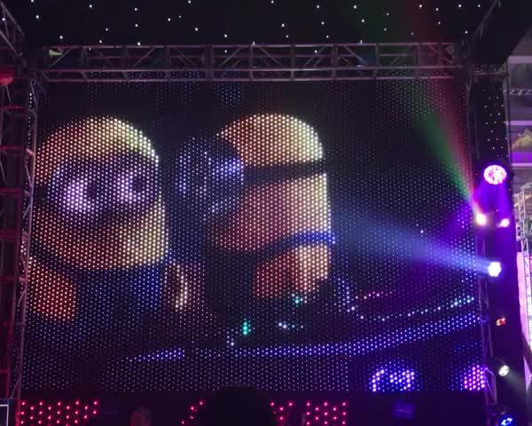 curtain led screen display minions