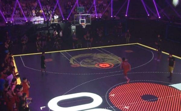 led floor basketball court