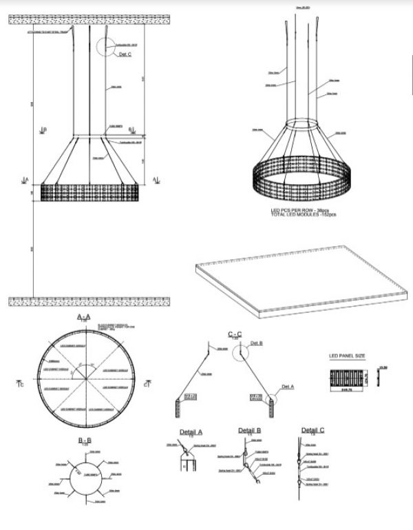 LED Circle display chicago schematic plan