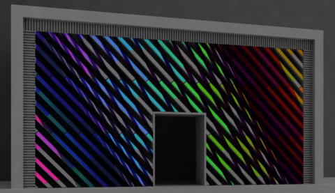 Ambilight facade led screen building display light
