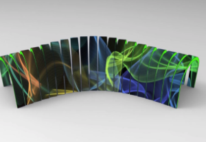 Motion rectangle led screen I9