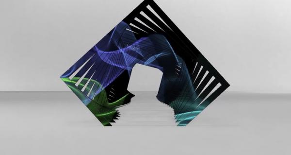 Rectangle parametric led screen dark light