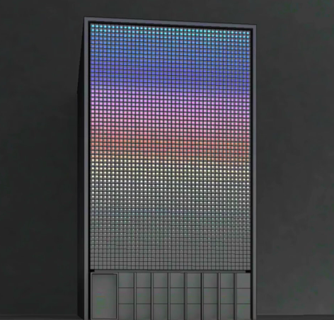 Distribution facade led screen multicolor