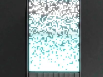 Distribution Facade LED Screen Post