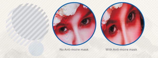 ultra fine pitch anti moire mask