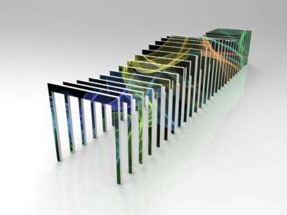 Motion Rectangle LED Screen Post