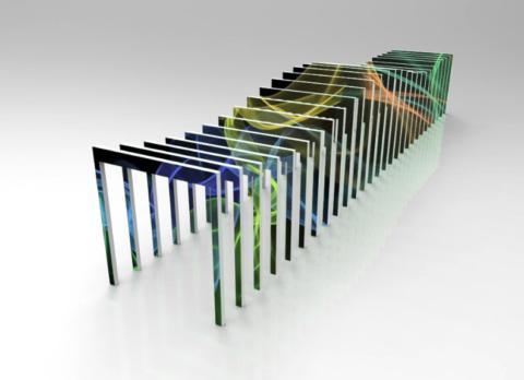 Motion rectangle led screen multicolor