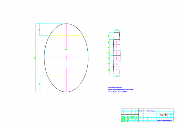 EGG led panel schematic plan