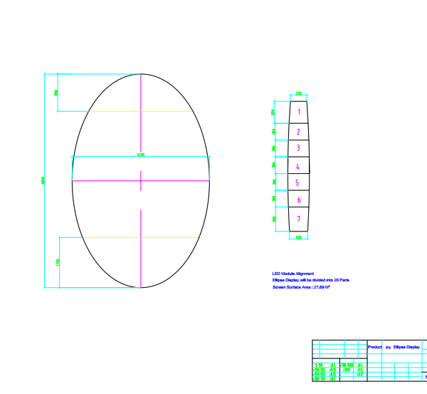 EGG led panel schematic plan