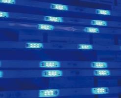 M6 светодиодные полосы сетки bleu