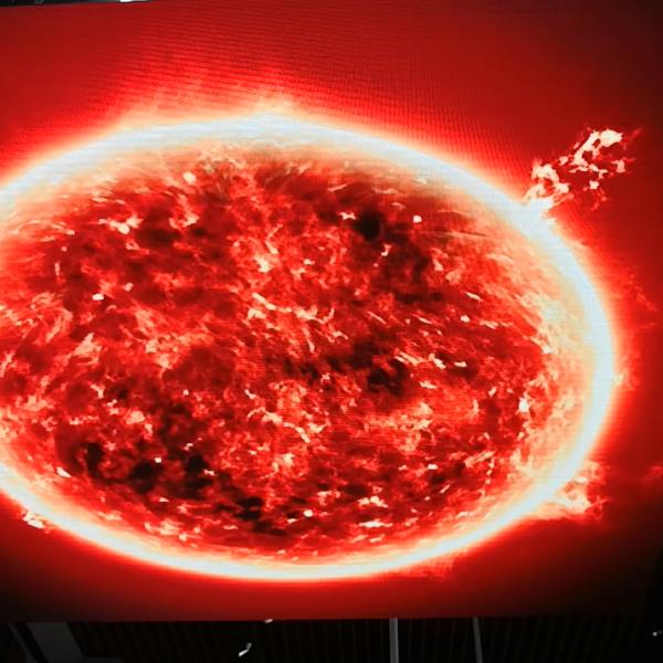 Display ceiling LED screen fireball