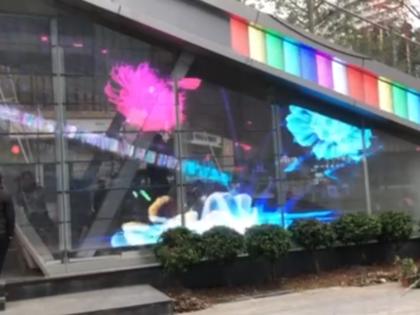 Outdoor transparent LED subway station