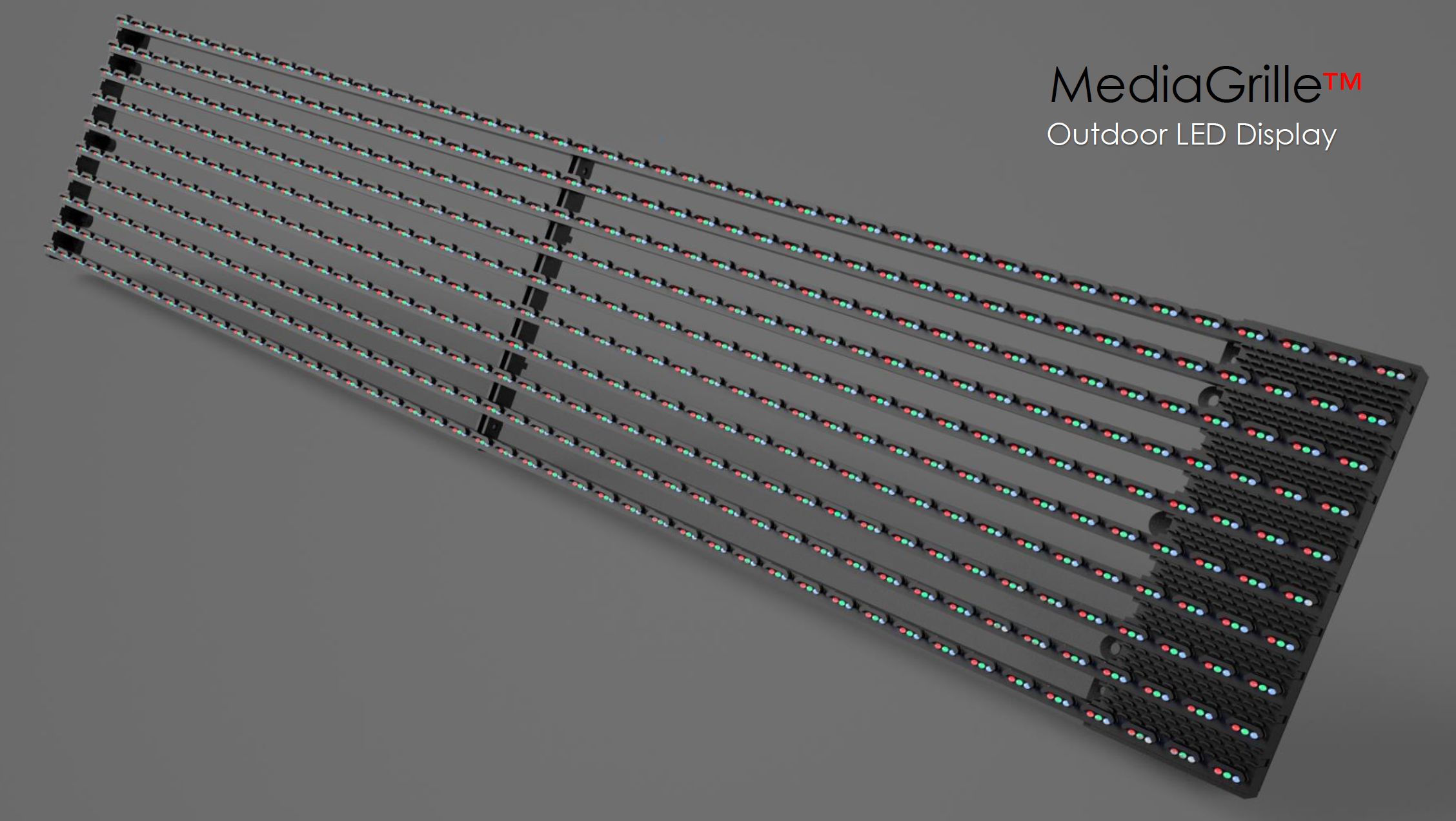 Facade Mesh Led Outdoor Strip Curtain M1 For Outdoor Media