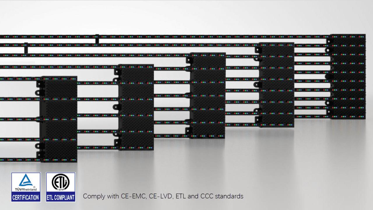 LED mesh CE-EMC-ETL compliance