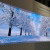 LED screen curved display snow