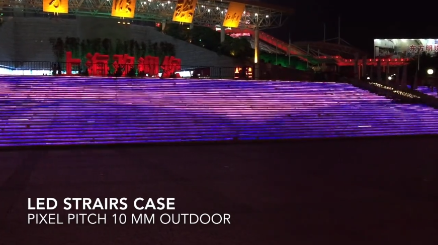 Outdoor Stair Led Screen Display To Add Digital Touch To