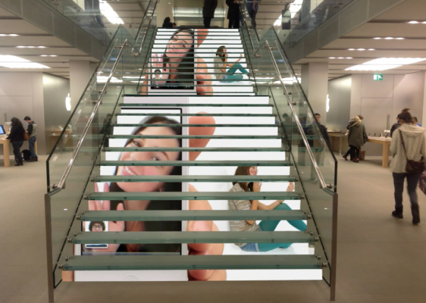 LED stairs display application