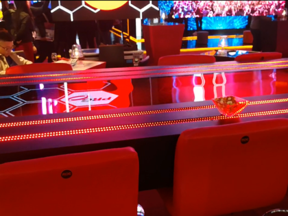 LED Screen on table custom