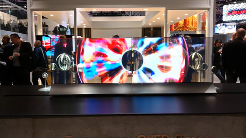 OLED LG screen transparent