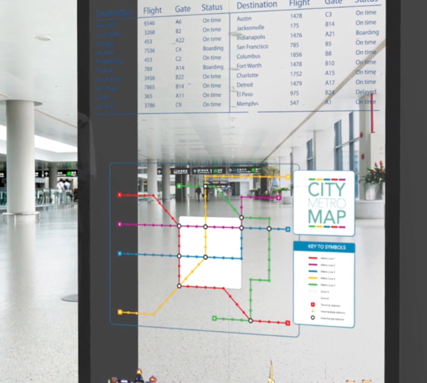 OLED screen display subway map
