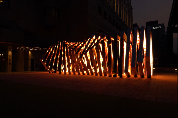 Outdoor parametric fire