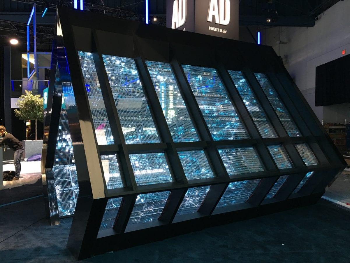 Transparent adhesive glass window led display
