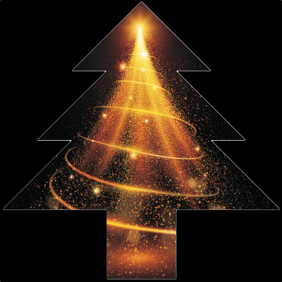 Christmas tree led shape display