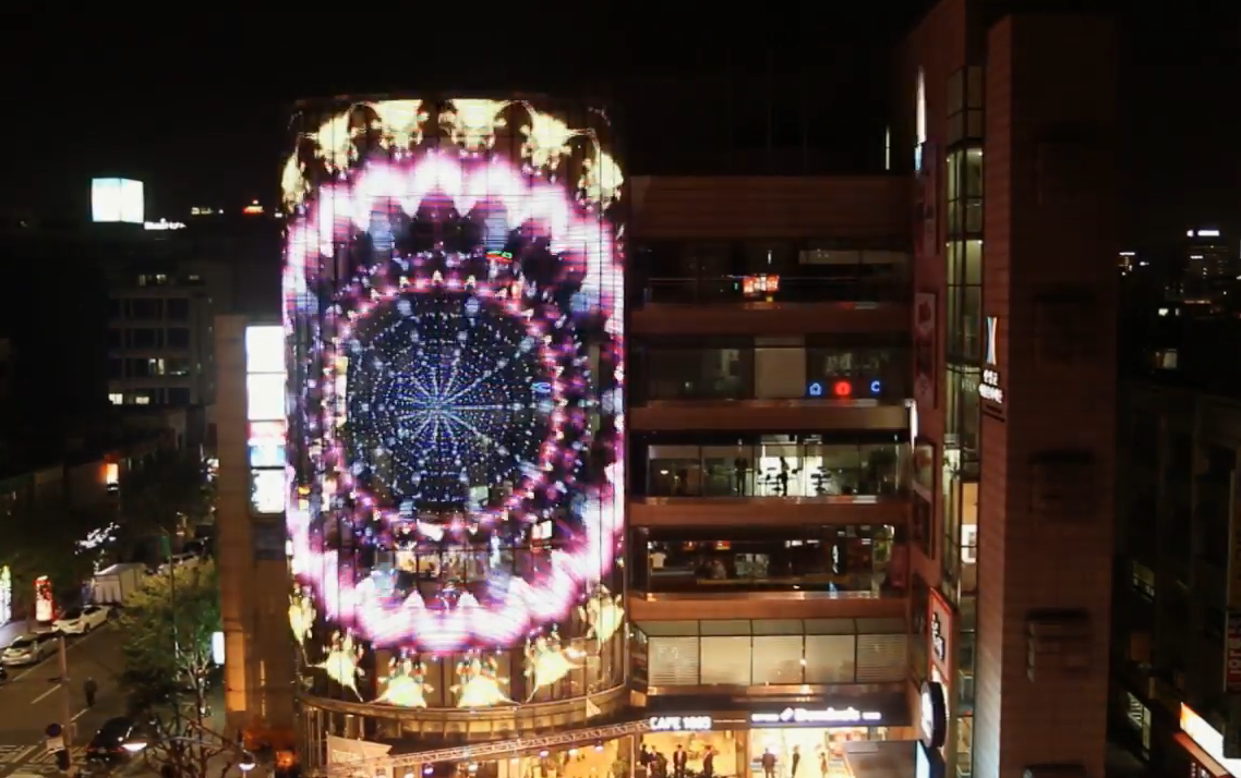 Glass building LED screen