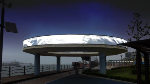 Observatory LED transparent