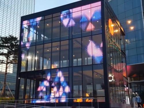 Transparent LED cube