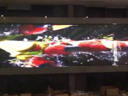 Fully transparent Glass LED screen display