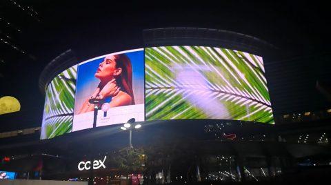 Façade de l'édifice extérieur LED affichage palme
