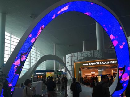 Arch flexible LED curved