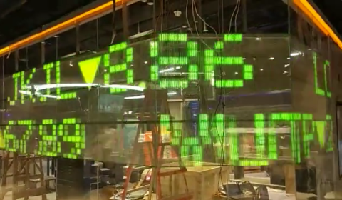 Screen transparent LED stock exchange