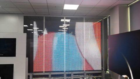 Transparent LED glass screen display