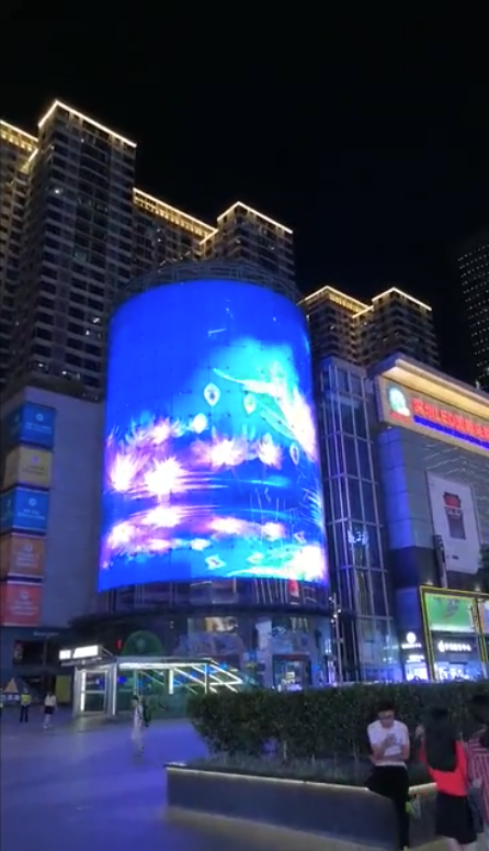 LED screen fully transparent facade building
